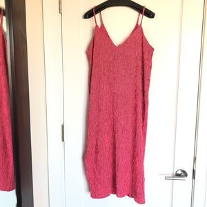 NWT- vneck spaghetti strap dress